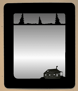 Cabin in the Woods Mirror - Cabin Decorations
