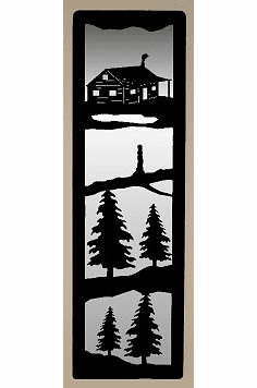 Cabin Large Accent Mirror Wall Art