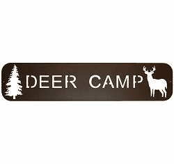 Camp Signs - Fishing, Canoeing, Hunting