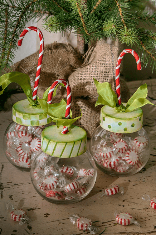 Candy Cane Jars-three assorted