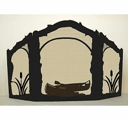 Canoe Arched or Straight Top Fireplace Screen