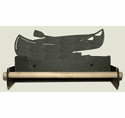 Canoe Paper Towel Holder With Wood Bar
