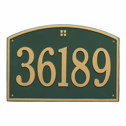 Cape Charles Estate Wall One Line Plaque in Green and Gold