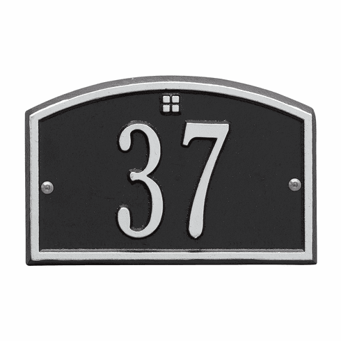 Cape Charles Petite Wall One Line Plaque in Black and Silver