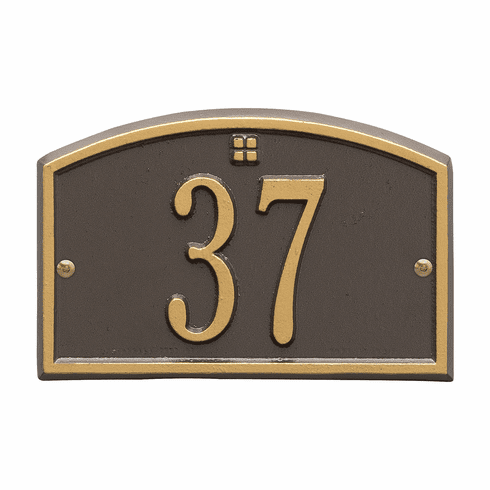 Cape Charles Petite Wall One Line Plaque in Bronze and Gold