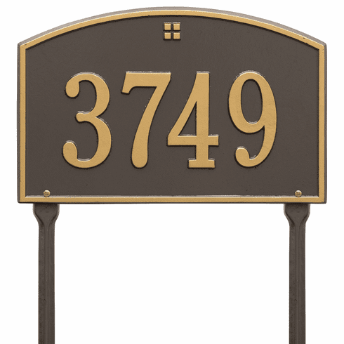 Cape Charles Standard Lawn One Line Plaque in Bronze and Gold