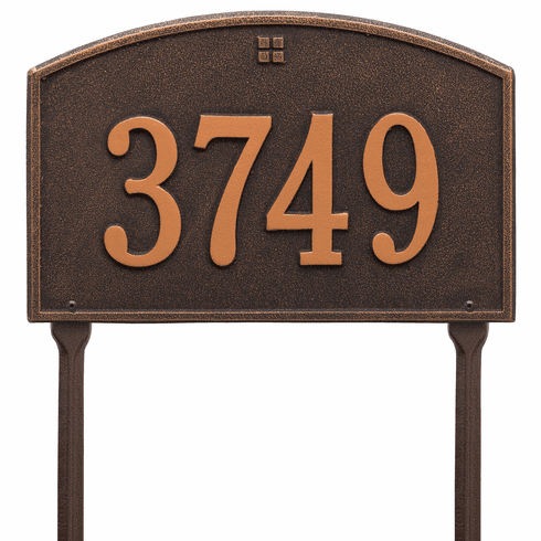 Cape Charles Standard Lawn One Line Plaque in Oil Rubbed Bronze