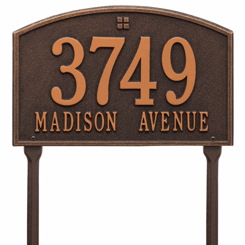 Cape Charles Standard Lawn Two Line Plaque in Oil Rubbed Bronze