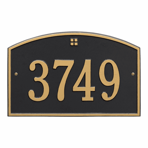 Cape Charles Standard Wall One Line Plaque in Black and Gold
