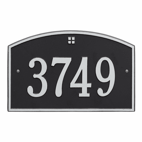 Cape Charles Standard Wall One Line Plaque in Black and Silver