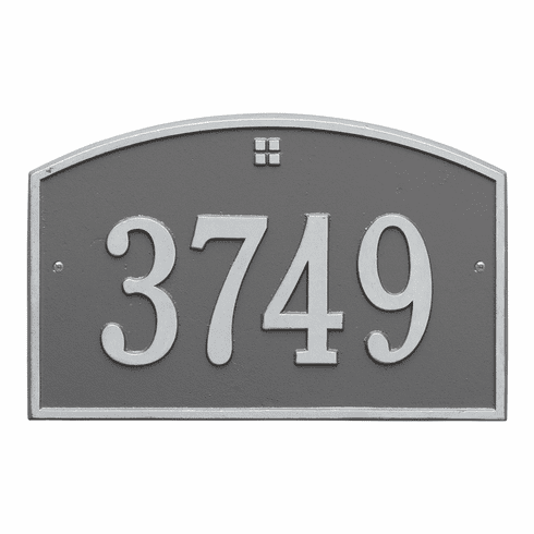 Cape Charles Standard Wall One Line Plaque in Pewter and Silver