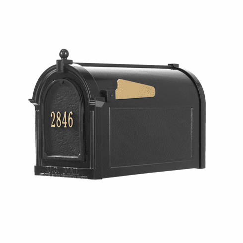 Capitol Mailbox Door Plaque Package in Black