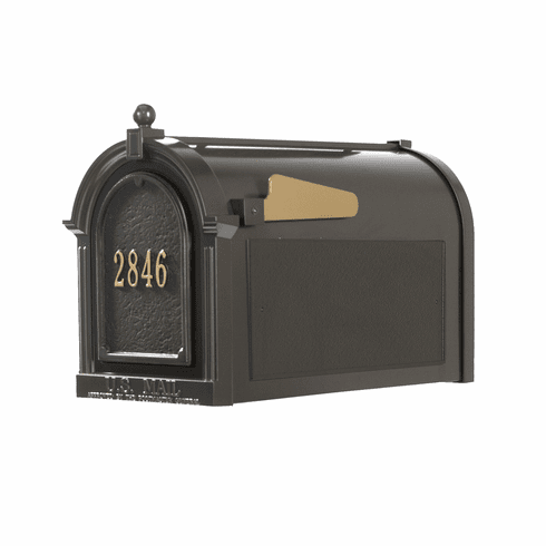 Capitol Mailbox Door Plaque Package in Bronze