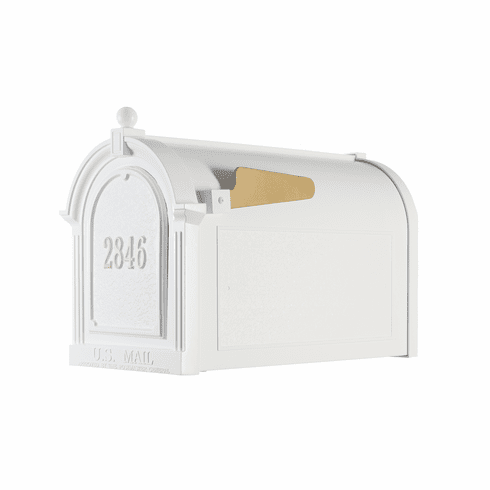 Capitol Mailbox Door Plaque Package in White