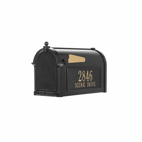 Capitol Mailbox Side Plaque Package in Black