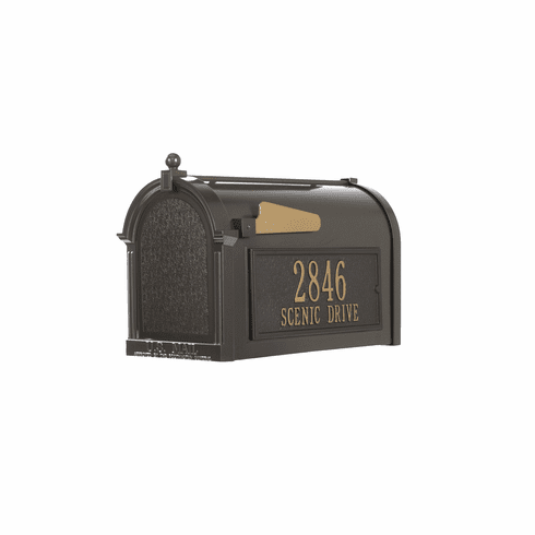 Capitol Mailbox Side Plaque Package in Bronze