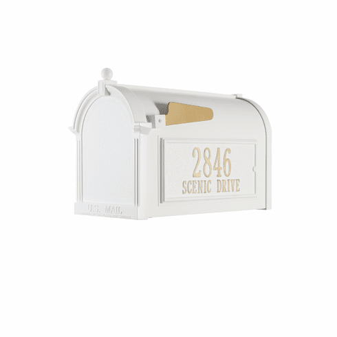 Capitol Mailbox Side Plaque Package in White