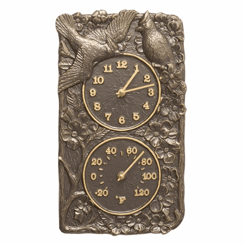 Cardinal Combo Clock And Thermometer - French Bronze