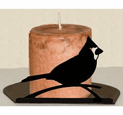 Cardinal Silhouette Candle Holder
