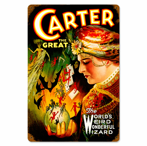 Carter The Great Magician's Poster Sign - Magic Sign