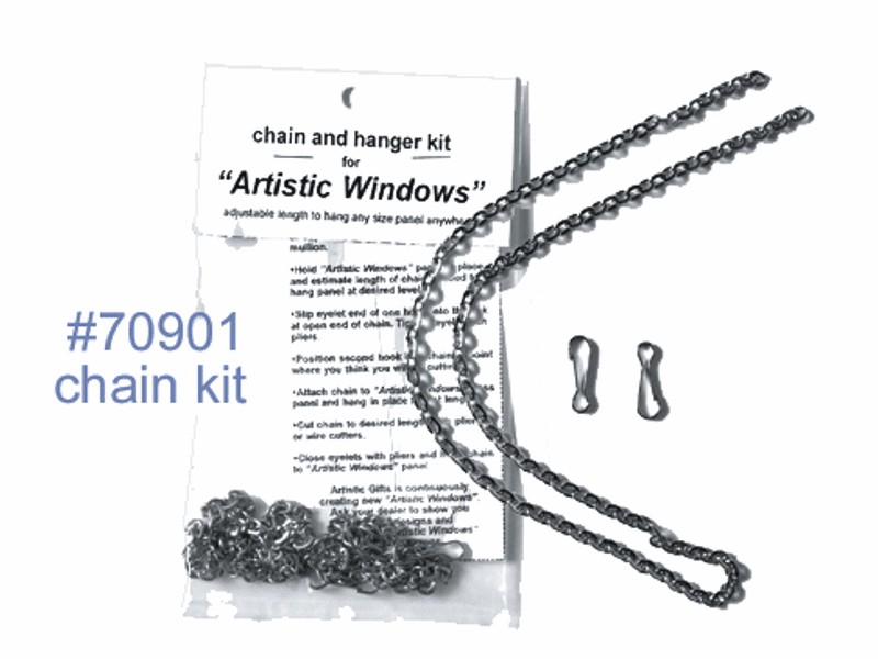 Chain Kit to Hang Art Glass Stained Glass Art Glass