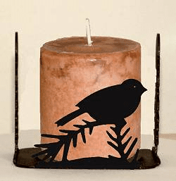Chickadee Four Sided Candle Holder