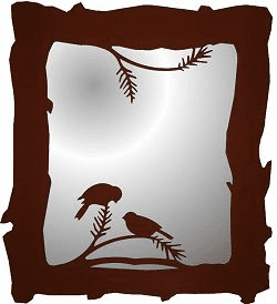 Chickadee Mirror