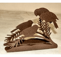 Chickadee Napkin and Letter Holder