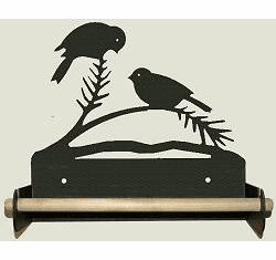 Chickadee Paper Towel Holder With Wood Bar