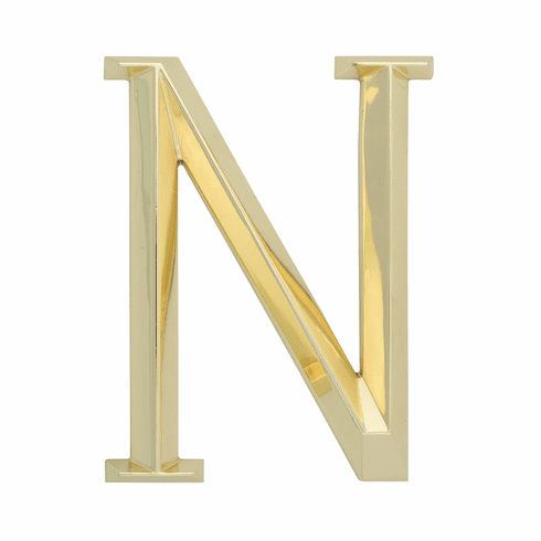 Classic 6 inches Letter - N - Brass