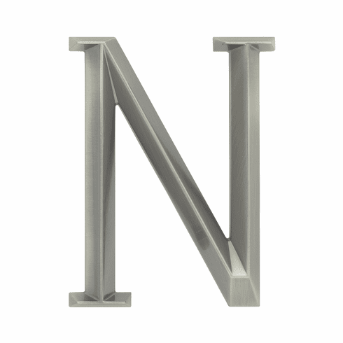 Classic 6 inches Letter - N - Nickel