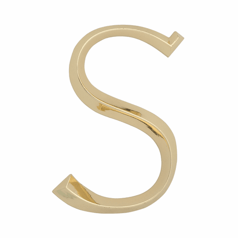 Classic 6 inches Letter - S - Brass