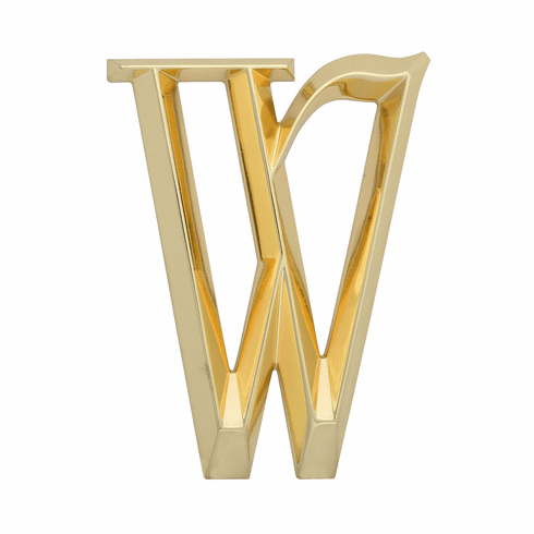 Classic 6 inches Letter - W - Brass