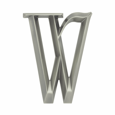 Classic 6 inches Letter - W - Nickel
