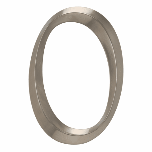 Classic 6 inches Number 0 Polished Nickel