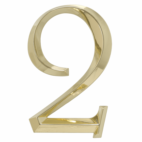 Classic 6 inches Number 2 Polished Brass