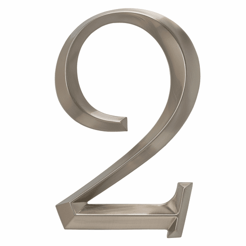 Classic 6 inches Number 2 Polished Nickel