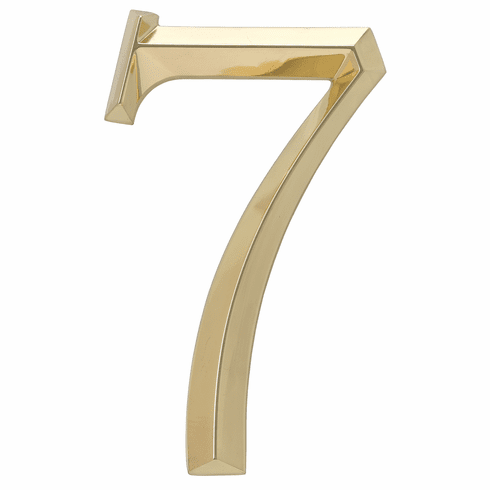 Classic 6 inches Number 7 Polished Brass