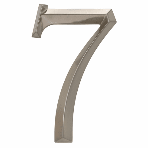 Classic 6 inches Number 7 Polished Nickel