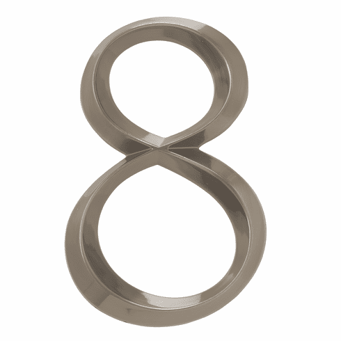 Classic 6 inches Number 8 Polished Nickel