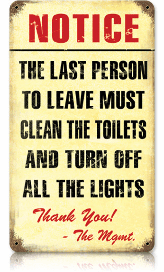 Clean Bathroom Sign - Bathroom Decoration