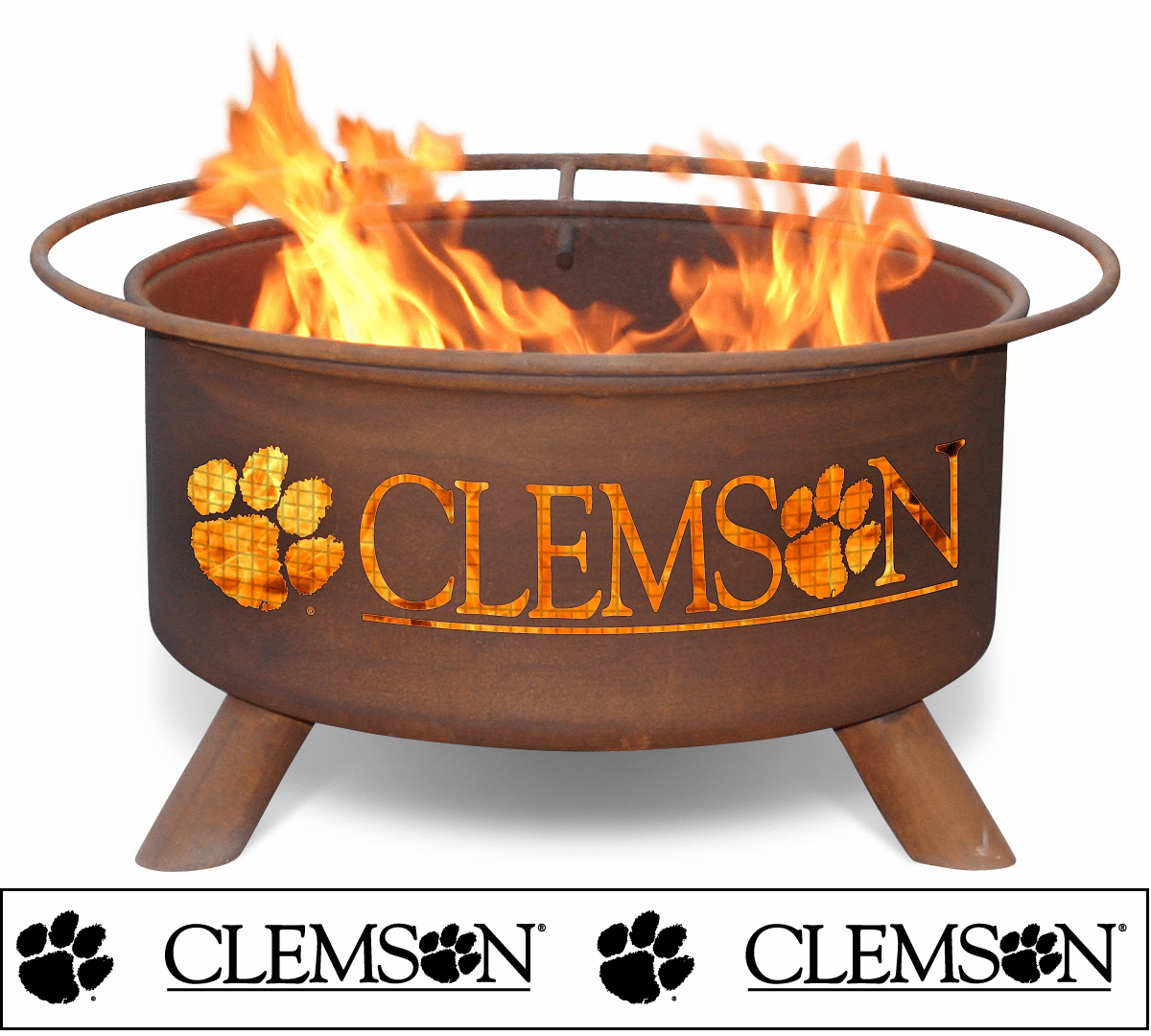Clemson Tiger Logo Fire Pit Ring - Tiger Fans