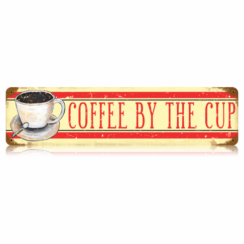 Coffee by the Cup Kitchen or Diner Sign