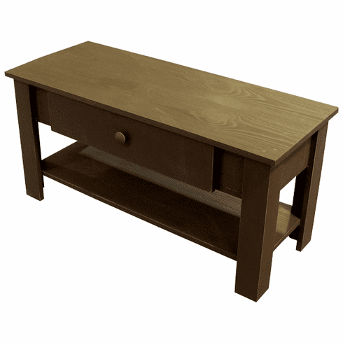 Coffee Table with Drawer, 39 inch wide