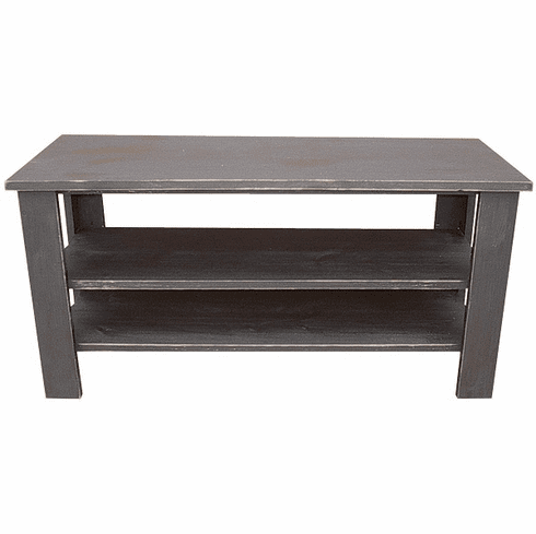 Coffee Table with Shelves, 39 inch wide