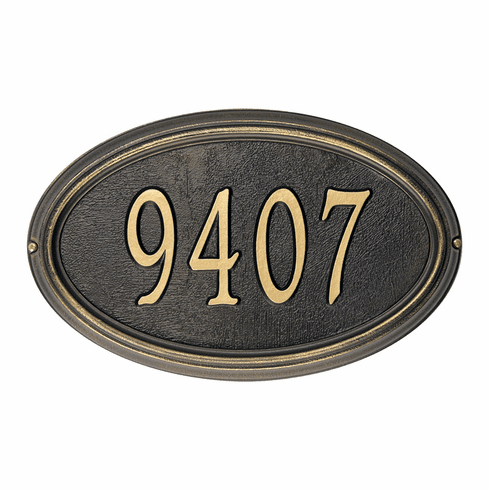 Concord Oval Address Marker - Small 1-Line Plaque