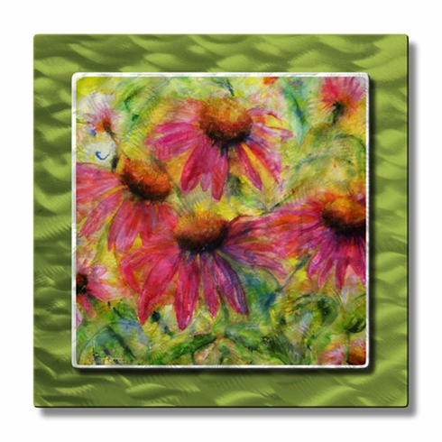 Content Coneflowers II Metal Wall Art