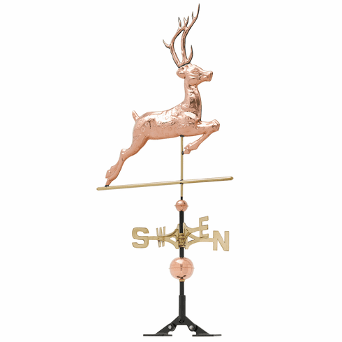 Copper Deer Weathervane - Polished