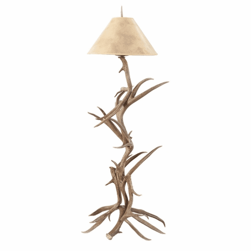Coues Antler & Iron Floor Lamp (Paper Shade)