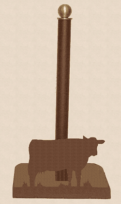 Cow Paper Towel Holder for Countertop